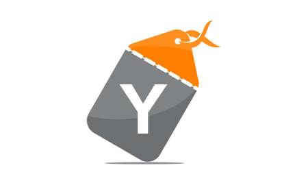 Discount Shop Initial Y icon design.