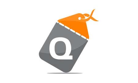 Discount Shop Initial Q icon design. Illustration