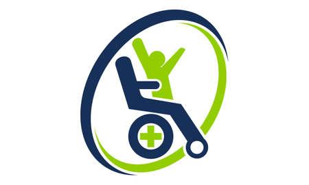 Disability Care icon design. 일러스트