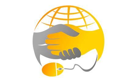 Deal Online Logo Design Template Vector Illustration