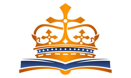 Crown and Book vector