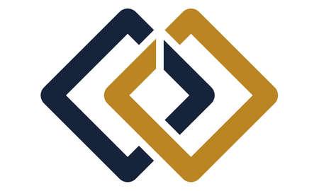 Chain Connections Logo Design Vorlage Vektor