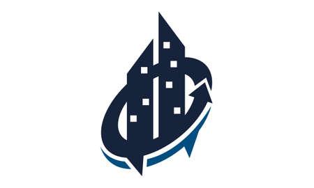 Real Estate Talk logo vector illustration.