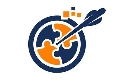 Digital Business Target logo Vectores