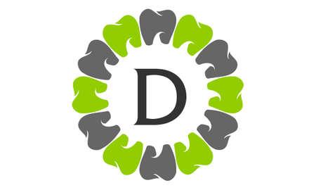 Gesunde Zahnpflege Buchstaben D Logo Standard-Bild - 91945186