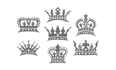 Crown Logo Set Illustration