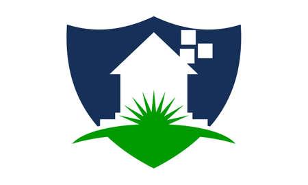 Home Shield icon Design Template Vector Illustration