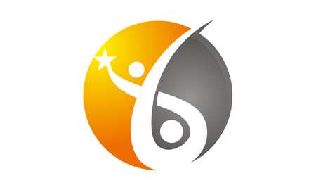 Training For Success Logo Concept Illustration. Illustration