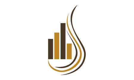 Tobacco Fund Club Stock Commodity Logo Concept Design Illustration. Illustration