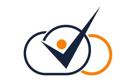 コーチングの成功クラウド ロゴ  イラスト・ベクター素材