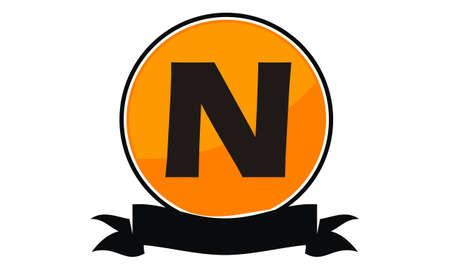 Letter N Modern Logo Concept Design Illustration. Çizim