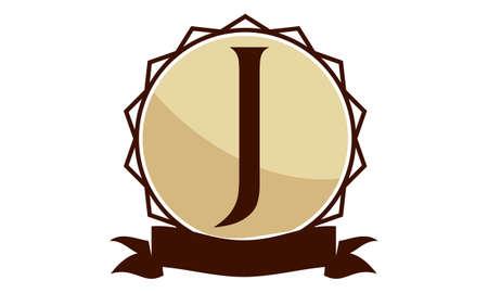 Letter J Modern Logo Concept Design Illustration. Vettoriali