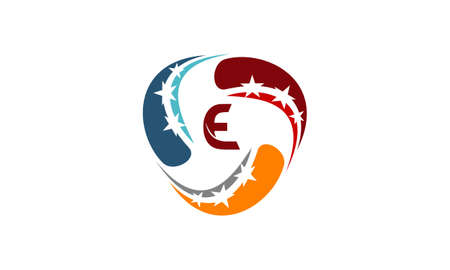 Success Solution Logo Concept Illustration with Letter E. Illustration