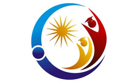 Success Student Consulting Logo Concept Design. Vettoriali