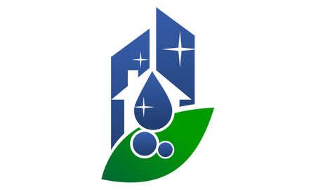 Logo für umweltfreundlichen Reinigungsservice