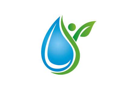 Water droplet logo concept design.