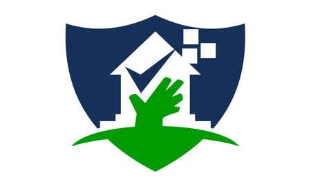 Home Shield Logo Design Template Illustration