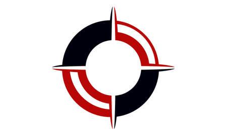 Compass Marketing Business Distribution Logo Concept Design Illustration.