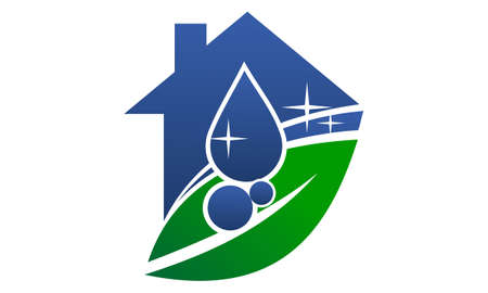 Eco Friendly Cleaning Service logo  イラスト・ベクター素材