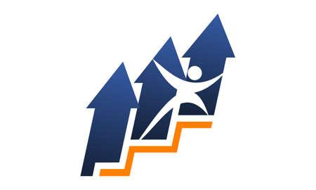 Business Career Success Logo Concept Design.