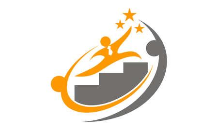 Career Coaching Logo Design Template Illusztráció