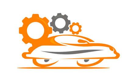 Car and Gears Logo Concept Design.