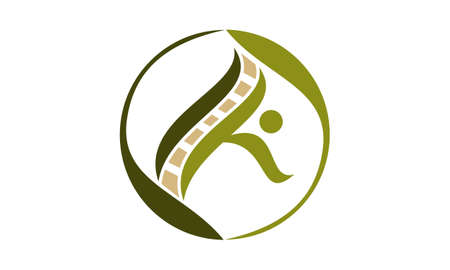 Chiropractic and Acupuncture Logo Concept Design.