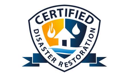 Disaster restoration logo concept design.