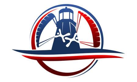 Parachutist Logo Design Template