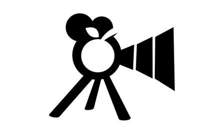 Cherry Picture Production Logo Concept Design. Illustration