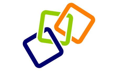 Kettenverbindungs-Design-Schablonen-Vektor