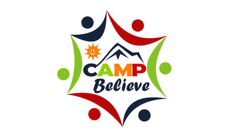 Camp Believe Design Template Vector