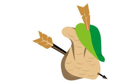 Robin Hood Design Template Vector