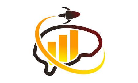 Business creative idea icon design template illustration. Illustration