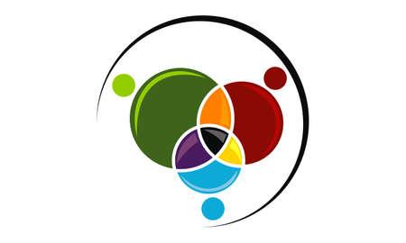 Business teamwork icon design template illustration. Stock Vector - 92161226