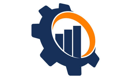 Business automation gear icon design template illustration.