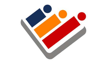 Team work solutions icon design template illustration. Stok Fotoğraf - 92163136