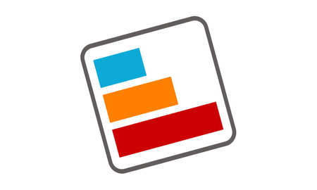 Business report icon design template illustration.