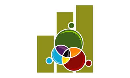 Business teamwork icon design template illustration.