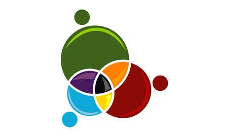 Business teamwork icon design template illustration. Stock Vector - 92165913