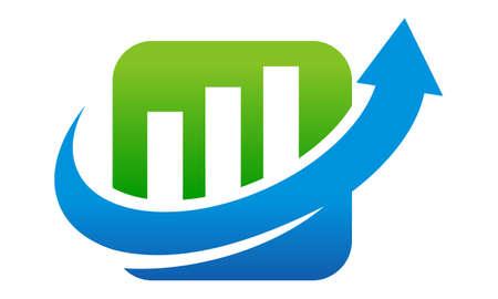 Business boost icon design template illustration. Ilustração