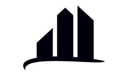 Real estate icon design template illustration.