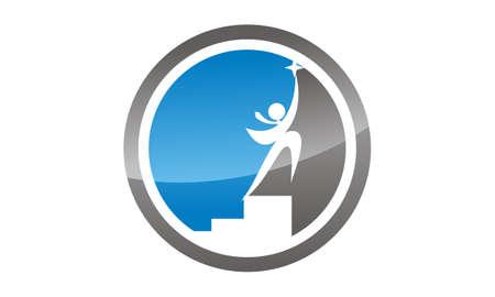 Career coaching icon design template illustration. Stock Illustratie