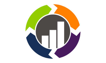 Synergy business solution process icon design template illustration.