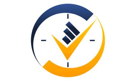 Business 24 hours management icon design template illustration.
