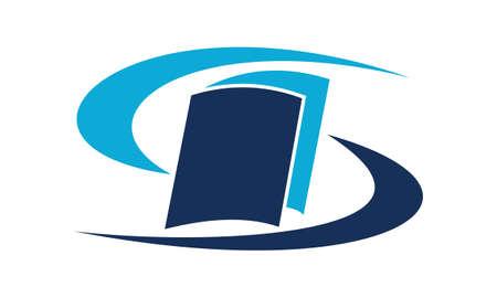 Book care logo design template vector