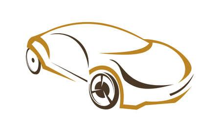 Car design template illustration.