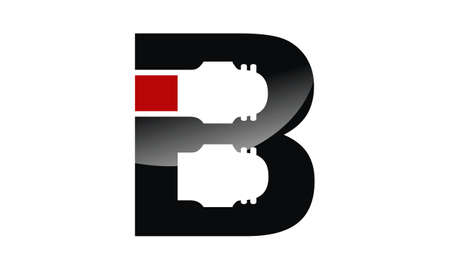 Letter B Industry  Design Template Vector