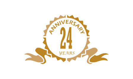 24 Years Ribbon Anniversary