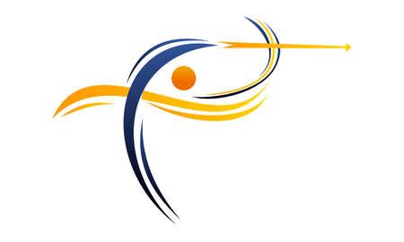 Archery Logo Design Template Vector  Ilustrace